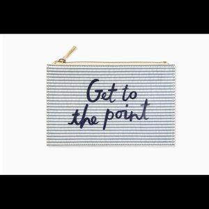 Kate Spade seersucker pencil pouch